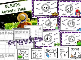 Phonics Blends Activity Pack