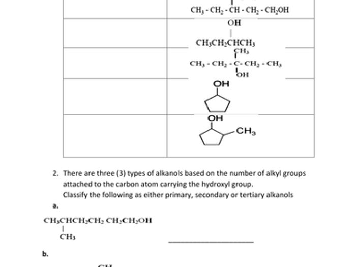 Naming And Drawing Functional Groups Practice Worksheet Answers