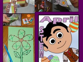 STEM Center Challenges - April STEAM Easter - Spring