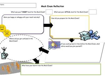Student growth mindset exam reflection