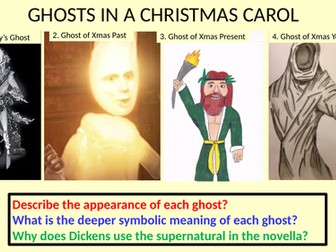 A Christmas Carol: Grade 9 model essay on theme of ghosts/supernatural with 9 step plan.