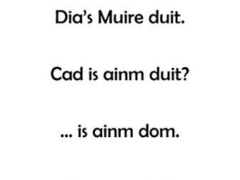 Gaeilge: Mé Féin, Feidhmeanna Teanga, labhairt, leitheoireacht