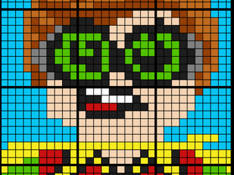 Colouring  by Mean, Median, and Mode - Lego Robin (12 and 20 Sheet Math Mosaics)