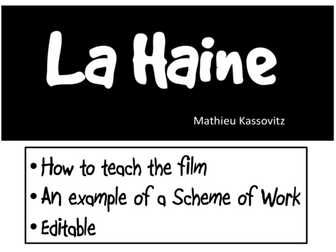 La Haine- How to teach the movie- example of a Scheme of Work