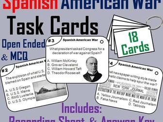 Spanish American War Task Cards
