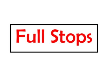 English, Punctuation, Capital Letters, Full Stops, Apostrophes,