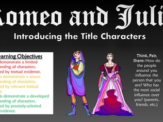 Romeo and Juliet: Introducing the Title Characters (Analysis of Act I Scenes I-IV)