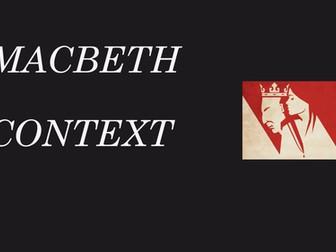 Macbeth revision lesson - context