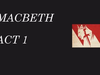 Macbeth revision - Act 1
