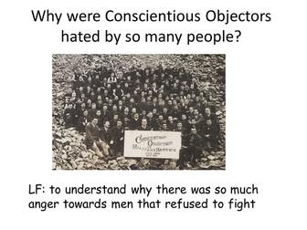 World War 1 - Conscientious Objectors
