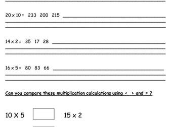 Year 2 Interim Framework- Greater depth multiplication facts