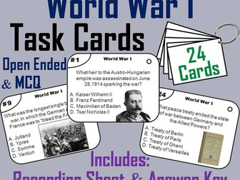 World War 1 Task Cards