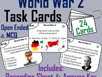World War 2 Task Cards