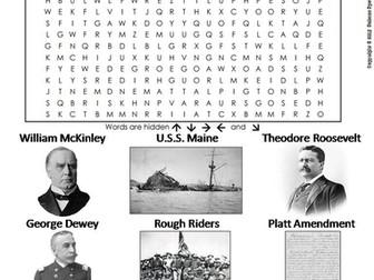 Spanish American War Word Search