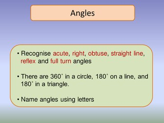 Angles revision