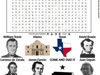 Texas Revolution Word Search