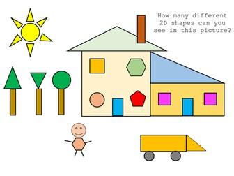 Year 1/2 - 2D shape problem solving