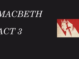 Macbeth revision - Act 3