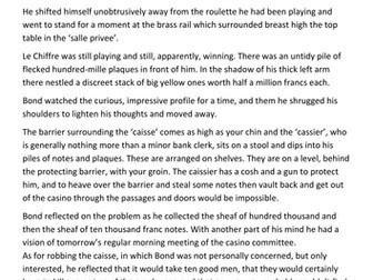 Casino Royale English AQA Language skills KS3