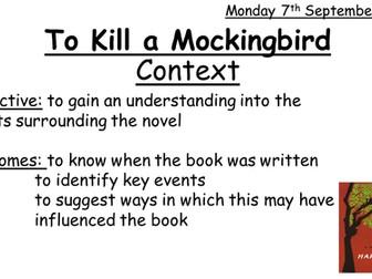 To Kill a Mockingbird Scheme of Work