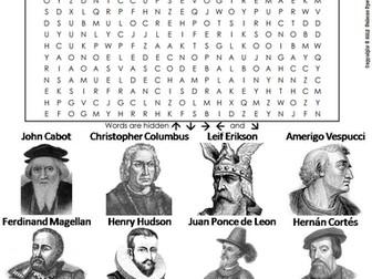 European Explorers Word Search