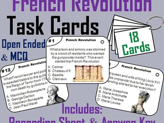 French Revolution Task Cards