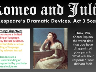Romeo and Juliet: Shakespeare's Dramatic Devices