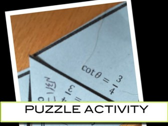 Trigonometric Identities Puzzle Activity