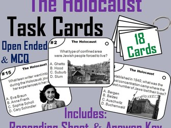 Holocaust Task Cards