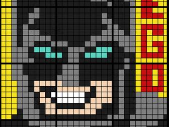 Colouring by Ratio Applications, Lego Batman (12 Sheet Collaborative Math Mosaic)