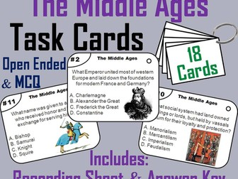 Middle Ages Task Cards