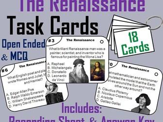 Renaissance Task Cards