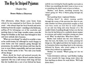The Boy in Striped Pyjamas Comprehension SATS