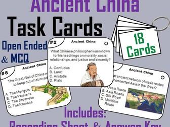Ancient China Task Cards