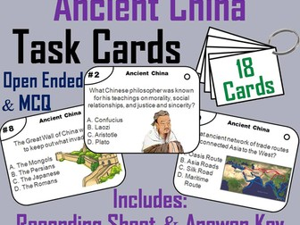 Ancient China Task Cards