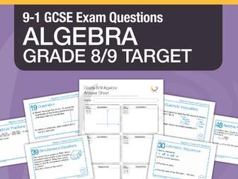 New 9-1 GCSE Maths Grade 8/9 target - Algebra