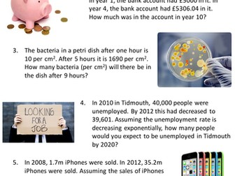 Exponential Growth/Decay - NEW GCSE