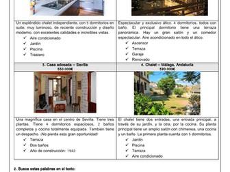 Spanish KS3 GCSE mi casa describe your house estate agent/ property/ reading comprehension