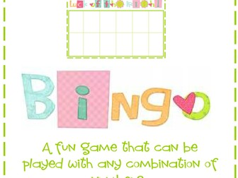 Addition, Subtraction, Multiplication and Division Bingo - Mental Maths