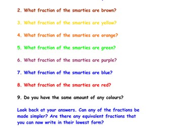 Smarties Fractions Investigation