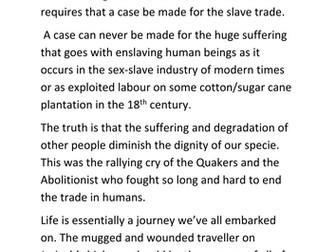 Teaching of the Transatlantic Slave Trade