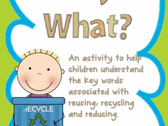 Reuse, Recycle, Reduce Definition Match - Earth Day