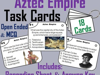 Aztec Empire Task Cards