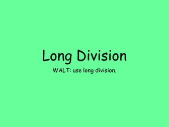 Long Division Powerpoint and Activity
