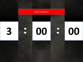 3 hour powerpoint timer. count down clock for mock exams