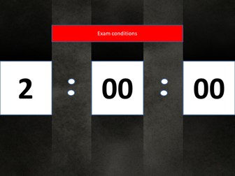 1 hour monolith powerpoint timer, count down clock. For controlled conditions assessments in class.