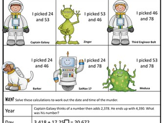 Maths Murder Mystery - Addition/ Subtraction (KS2 SATs Revision)