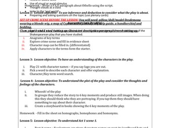 Shakespeare's Othello: Complete KS3 Scheme of Work