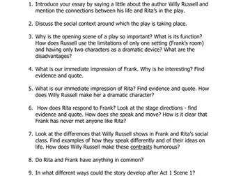Educating rita essay