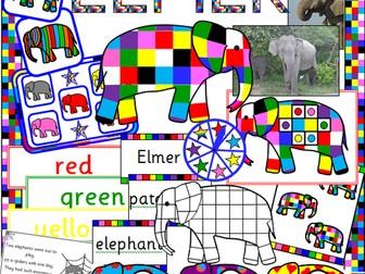 Elmer the elephant story sack resources